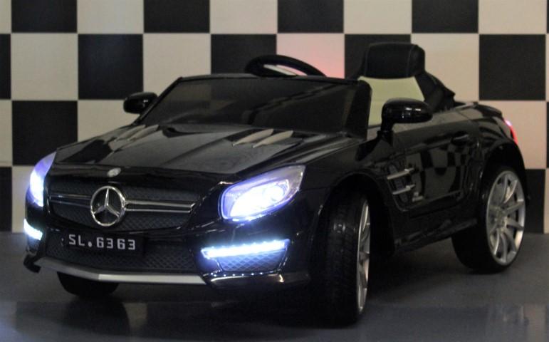 Mercedes SL63 kinderauto 2.4G RC 12 volt lederen zitting en rubberen banden