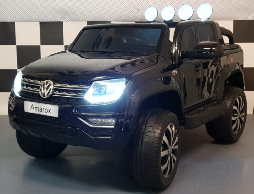 Kinderauto VW Amarok metallic zwart 4WD 2.4G RC