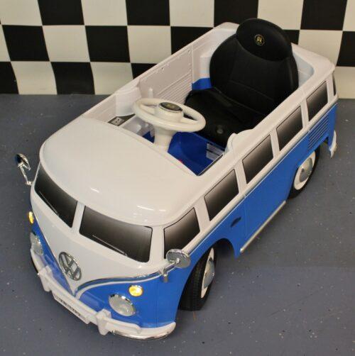 12 volt elektrische kinderbus blauw 12 volt rc