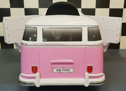 12 volt VW T1 kinder accu auto bus roze
