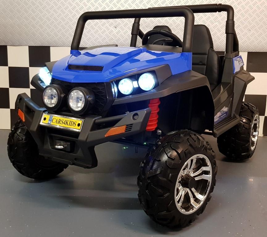 Kinderjeep blauw V Twin 2x12V 4WD 2.4G afstandbediening 2 persoons