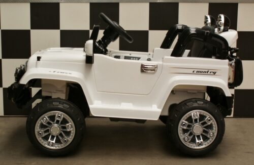 Kinder accu jeep 12 volt met afstandbediening wit Country