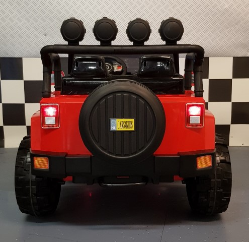 4WD elektrische Power kinderjeep rood 2.12V accu en 2.4G RC