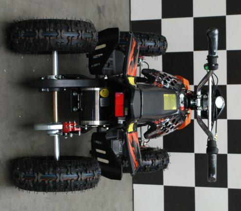 Elektrische kinderquad Repti oranje Nitro 800 watt