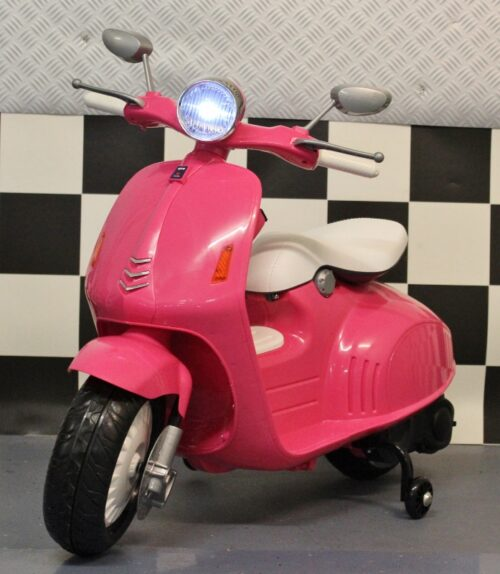 Retro look kinderscooter roze 12v