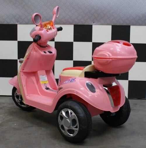 Accu kinderscooter roze 6 volt Cute Baby