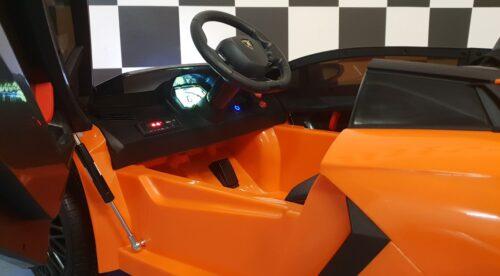 Dashboard Lamborghini kinderauto oranje