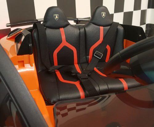 Leder zitting Lamborghini kinderauto