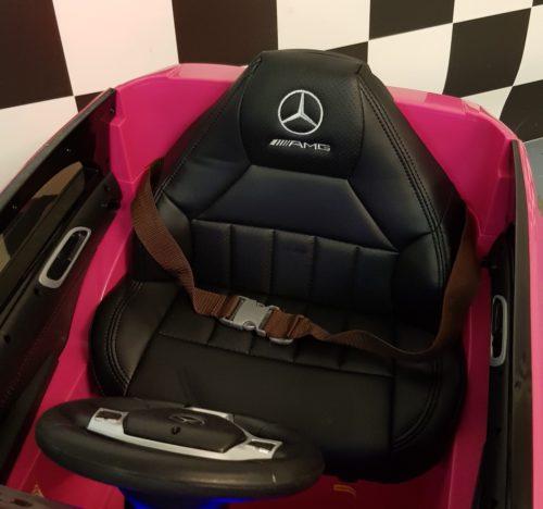 Leder zitting roze Mercedes A45 accu auto