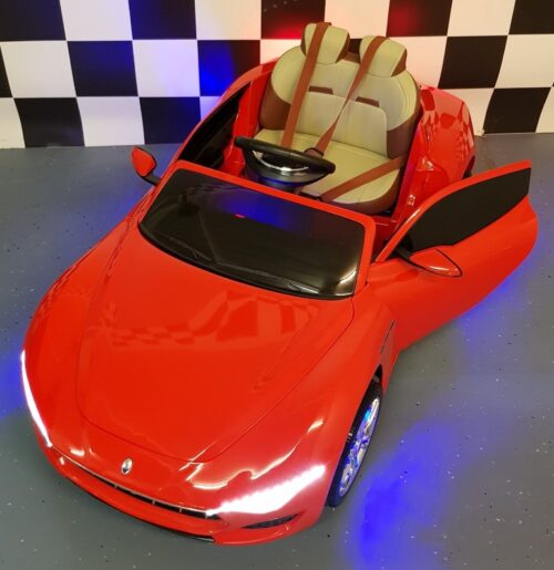 Rode Maserati Alfieri kinderauto 12 volt accu 2.4G RC
