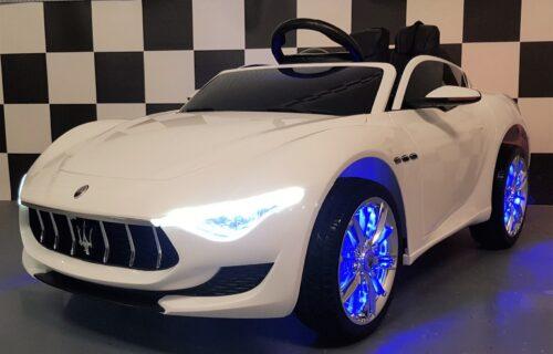Elektrische Maserati Alfieri kinderauto wit