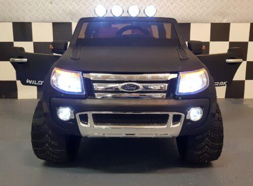 Elektrische kinderauto Ford Ranger XLS mat zwart 12v rc