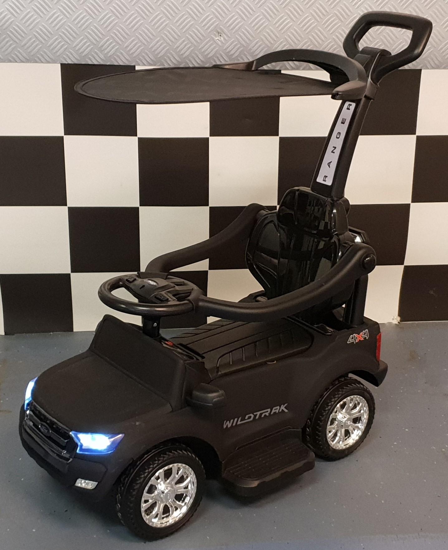 Mini Ford loopauto 6V met loop/duw functie mat zwart