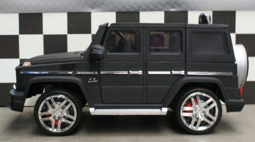 Kinder accu auto Mercedes G63 mat zwart 12v 2.4G afstandbediening