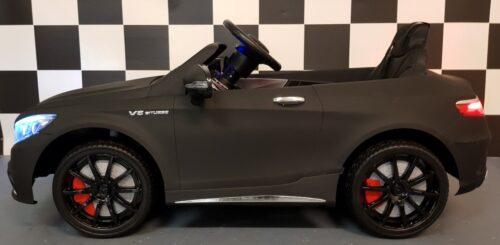 Elektrische kinderauto MB S63 mat zwart RC 12V