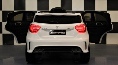 Speelgoedauto Mercedes A45 AMG wit 2.4G RC 12V