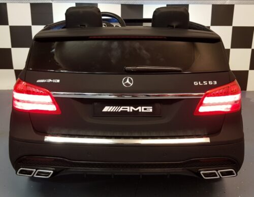Mercedes GLS63 2 persoons kinder accu auto mat zwart
