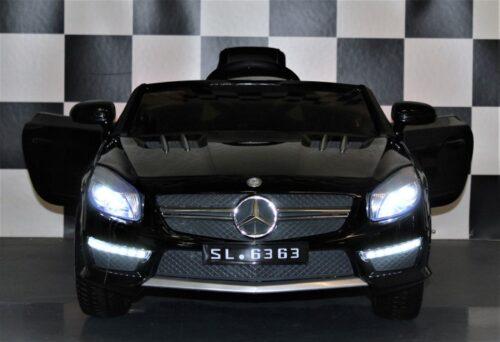 Kinderauto MB SL63 metallic zwart 12V 2.4G