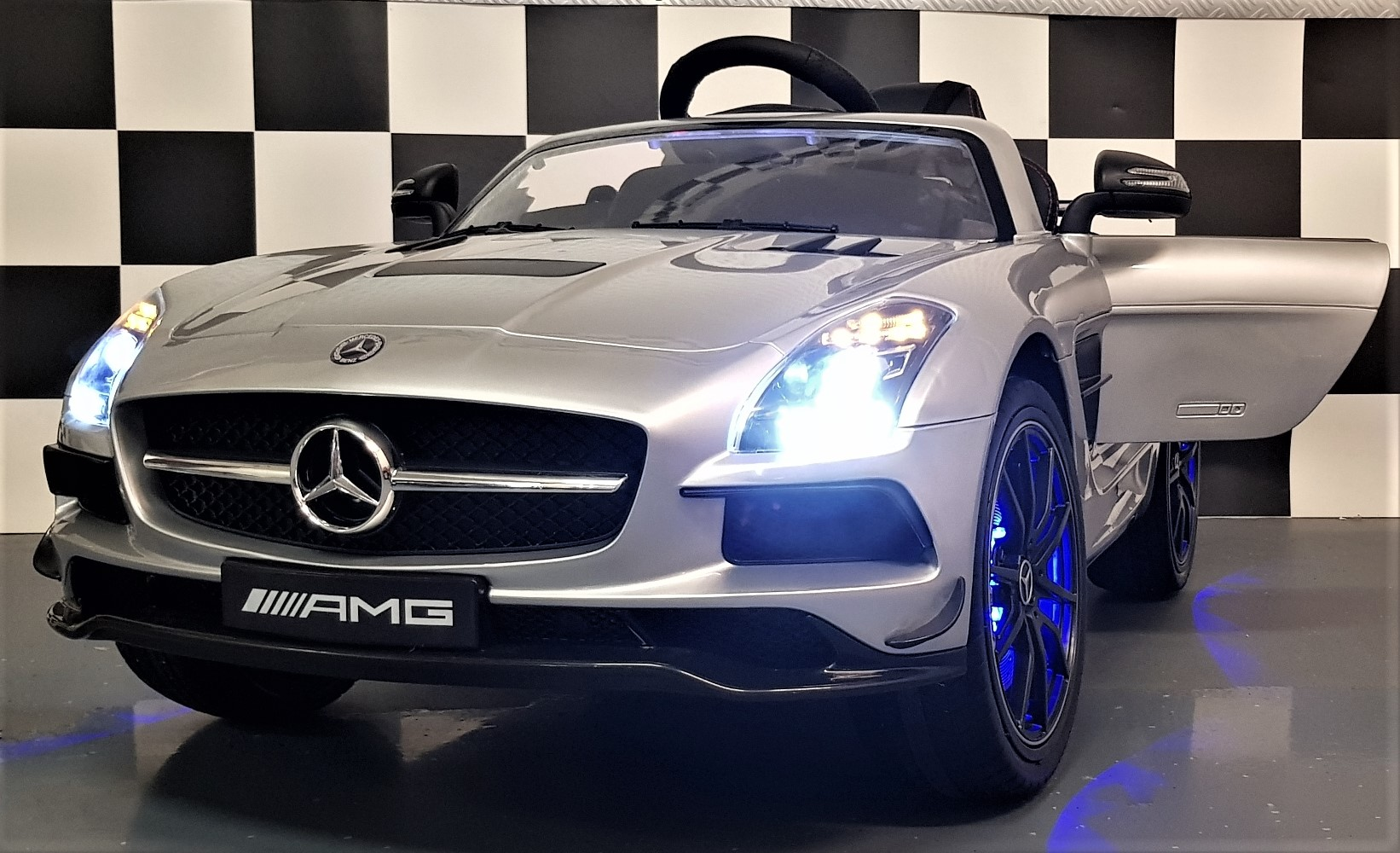 Mercedes SLS AMG speelgoed auto 12V 2.4G RC  Mp4 TV scherm