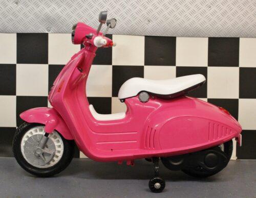 Elektrische kinderscooter Retro 12 volt roze