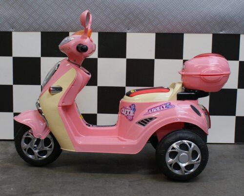 Roze meidenscooter 6 volt