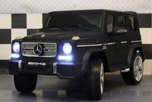 Mercedes G65 kinderauto mat zwart