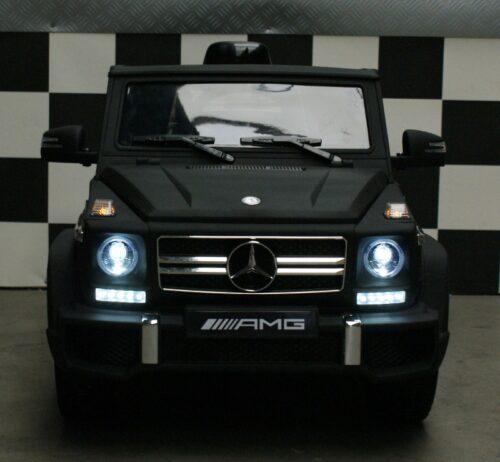 Speelgoedjeep Mercedes G63 AMG mat zwart 12V 2.4G RC