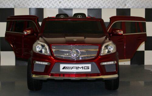 Kinderauto Mercedes GL63 metallic rood 2.4G afstandbediening 12v