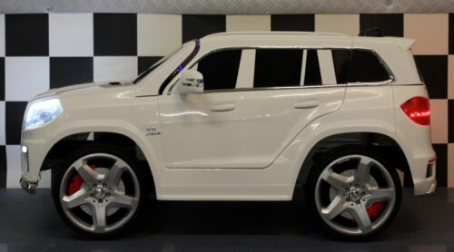 12 volt Mercedes GL63 kinderauto wit 2.4G rc