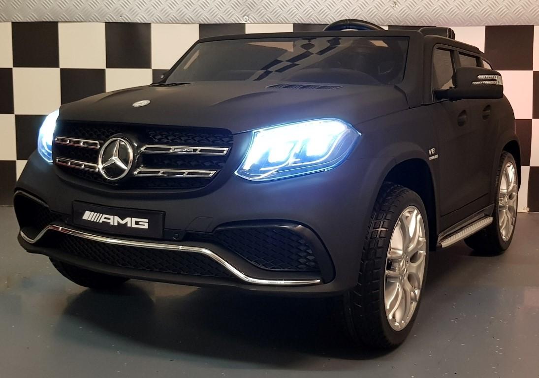 Kinderauto Mercedes GLS63 AMG 2 persoons 4WD 2.4G mat zwart