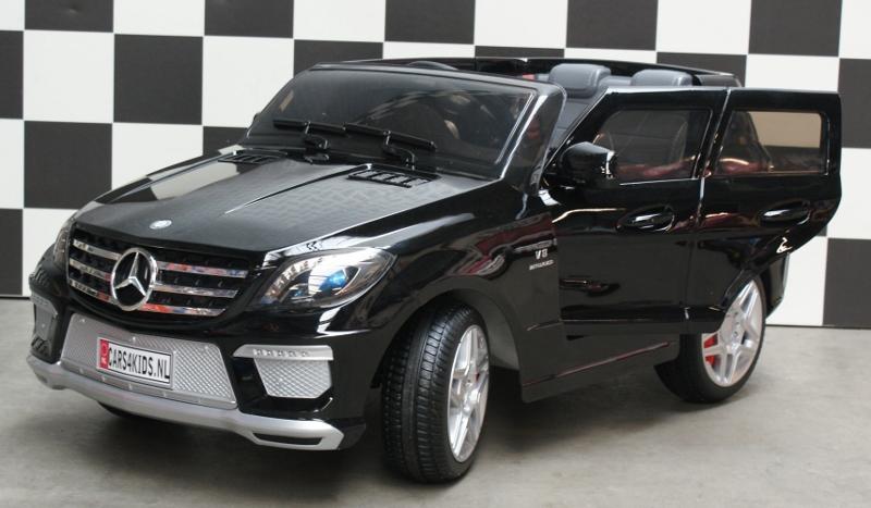 Mercedes Benz ML63 elektrische kinderauto 12V 2.4G RC zwart metallic