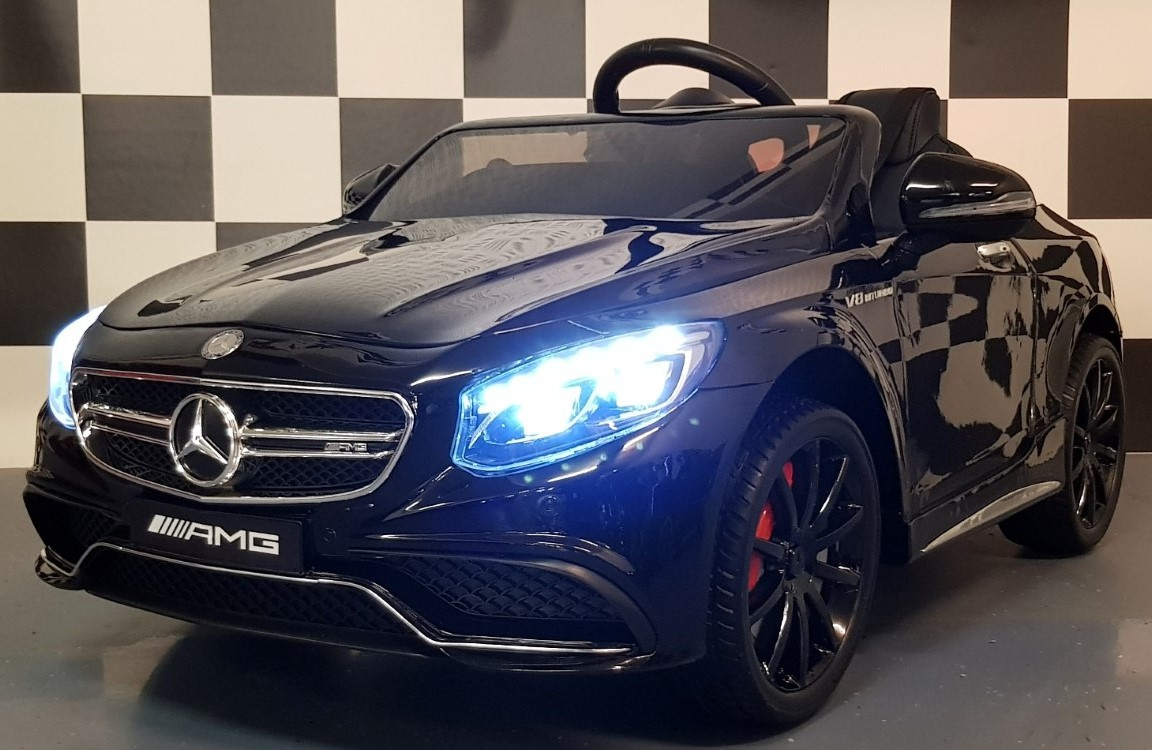 Mercedes Benz S63 kinderauto 12V 2.4G metallic zwart