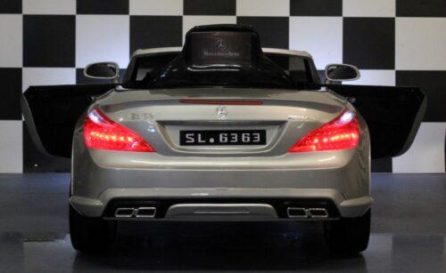 SL63 zilver 12 volt kinderauto 2.4G afstandbediening