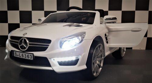 Mercedes Benz SL63 elektrische kinderauto wit