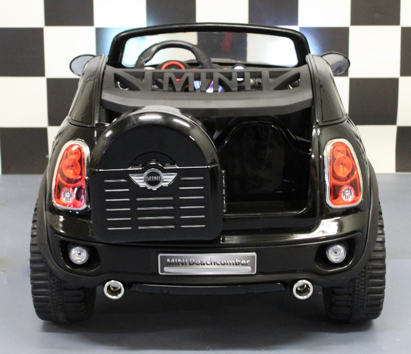 12v mini cooper speelgoedauto 2 zits metallic zwart rc. Black Bedroom Furniture Sets. Home Design Ideas