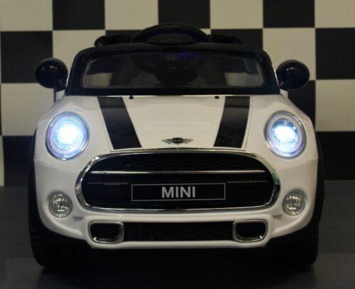 mini cooper kinderauto 12v rc bediening wit