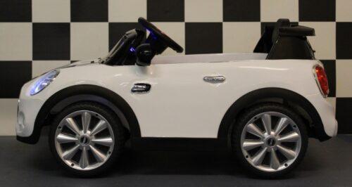 mini cooper wit 1 persoons elektrische accu auto