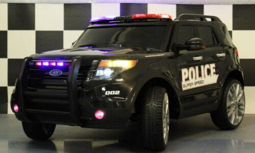 Politieauto 12 volt accu 2.4G afstandbediening zwart