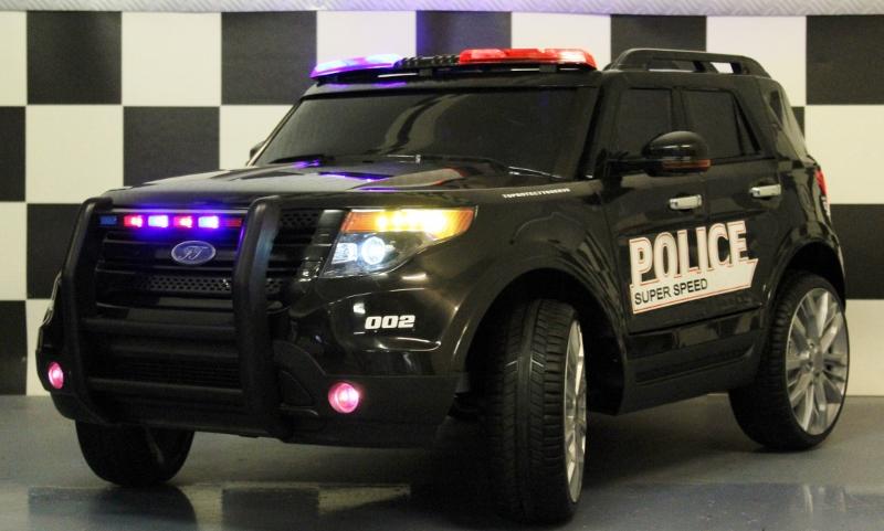 Elektrische kinderjeep Police 12V 2.4G RC zwart