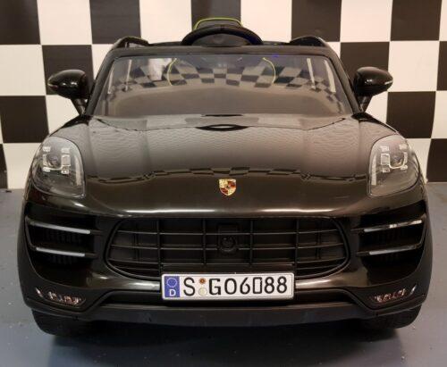Kinderauto Porsche Macan zwart 2.4G afstandbediening 12 volt