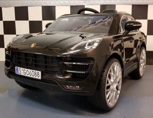 Porsche Macan Turbo kinderauto 12V 2.4G RC zwart