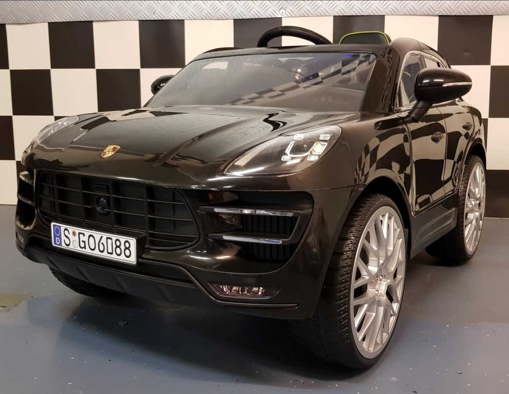elektrische kinderauto porsche macan 2 4g afstandbediening. Black Bedroom Furniture Sets. Home Design Ideas