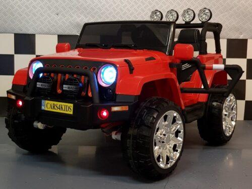 Elektrische Powerjeep 4WD 2x12V 2.4G RC rood
