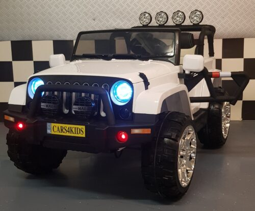 Powerjeep wit 2x12V accu 2.4G RC 4wd