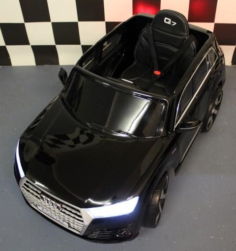 2.4G RC Audi Q7 kinderauto 12 volt metallic zwart