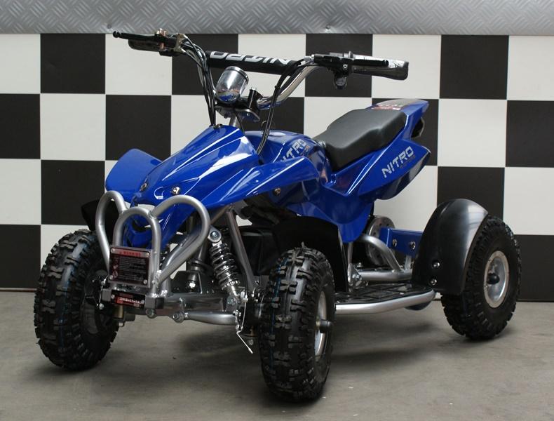 Elektrische kinderquad Dragon 36 volt Nitro blauw