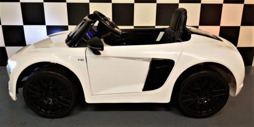 Kinderauto Audi Spyder wit 2.4G afstandbediening 12 volt