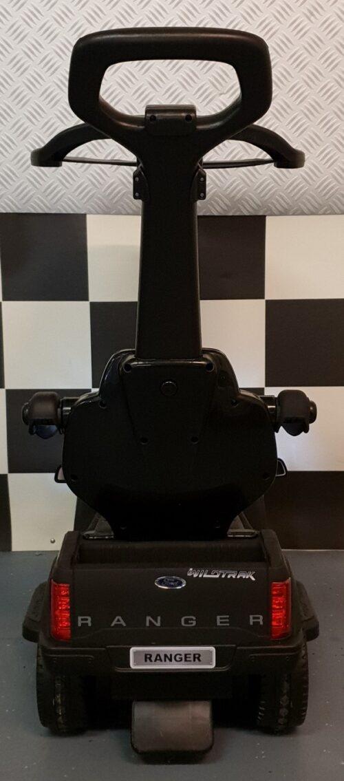 Mini 6 volt Ford Ranger mat zwart met loopfunctie