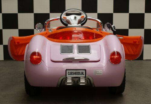 Kinderspeelgoedauto 356 roze speedster 12v rc