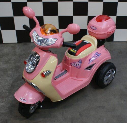 Meisjes scooter 6 volt accu roze